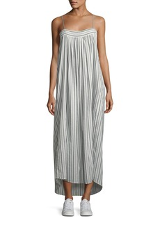 Vince Striped Sleeveless Column Maxi Dress