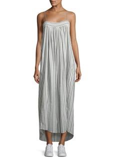 Vince Striped Sleeveless Column Maxi Dress