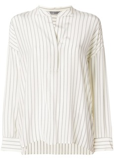 Vince striped v-neck blouse - Nude & Neutrals