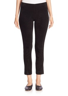 Vince Suede Cropped Leggings