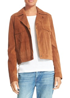 Vince Suede Jean Moto Jacket