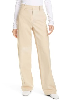 Vince Suede Wide Leg Trousers