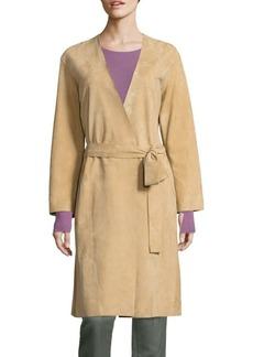 Vince Suede Wrap Coat