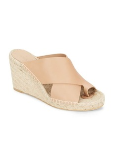 Vince Suraya Leather Crisscross Espadrille Wedge Sandals