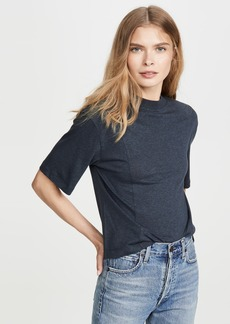 Vince Sweater Trim Crew Tee