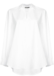 Vince swing front v-cut blouse - White
