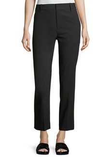 Vince Tapered Mid-Rise Straight-Leg Wool Trousers