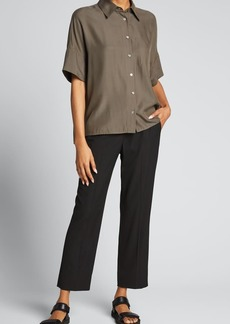 Vince Tapered Viscose Trousers