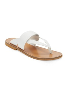Vince Tess Leather Thong Sandals