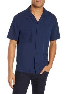 Vince Textured Cabana Regular Fit Sport Shirt