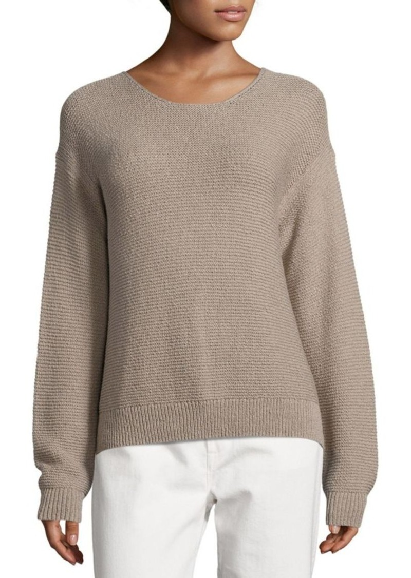 Vince Vince Textured Cotton Pullover | Sweaters - Shop It To Me