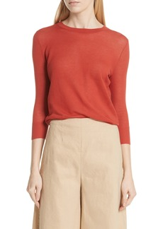 Vince Textured Cotton Pullover Sweater