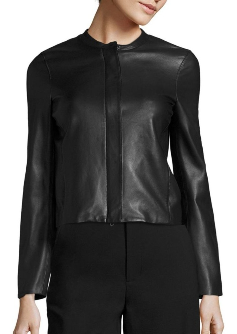 Vince Textured Leather Jacket