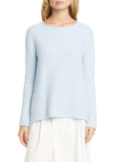 Vince Textured Ribbed Cotton Blend Sweater