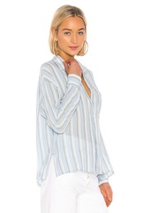 Vince Textured Stripe Boxy Button Down