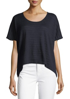 Vince Textured Stripe Wool-Cashmere Top