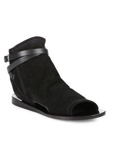 Vince Thalia Cutout Suede Peep Toe Sandals