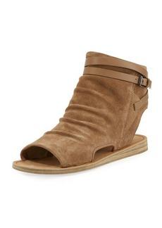 Vince Thalia Slouchy Suede Cutout Flat Sandal