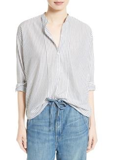 Vince Ticking Stripe Cotton Shirt