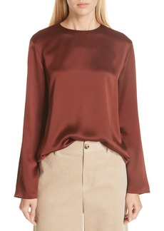 Vince Tie Back Silk Blouse