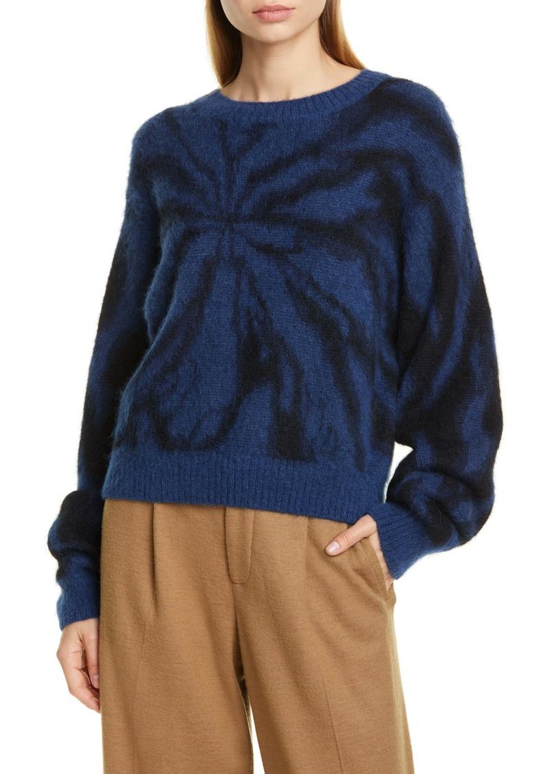 Vince Tie Dye Alpaca & Mohair Blend Crewneck Sweater