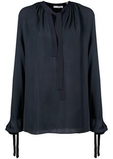 Vince tie front blouse - Blue