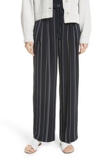 Vince Tie Front Wide Leg Silk Pants