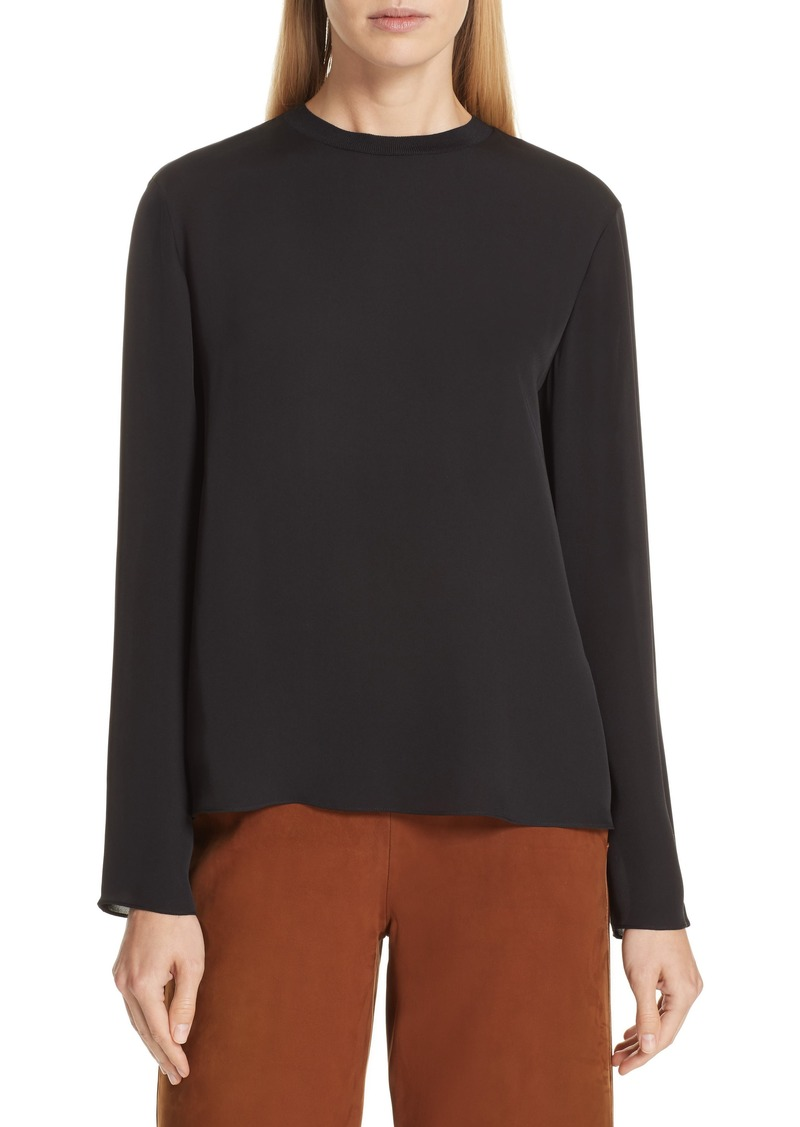 Vince Tie Neck Silk Blouse