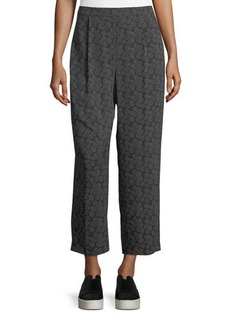 Vince Tie-Print Pull-On Pants