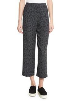 Vince Tie-Print Pull-On Pants