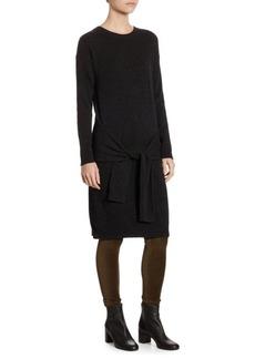 Vince Tie Waist Cashmere Knee-Length Dress