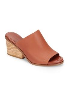 Vince Tilda Wooden-Heel Leather Mules