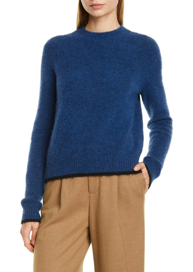 Vince Tipped Alpaca & Merino Wool Blend Crewneck Sweater