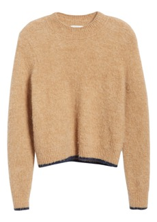 Vince Tipped Alpaca & Merino Wool Blend Crewneck Sweater