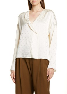 Vince Tonal Dot Silk Top