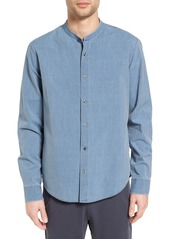 Vince Trim Fit Frayed Collar Chambray Sport Shirt