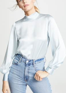 Vince Mock Neck Blouse