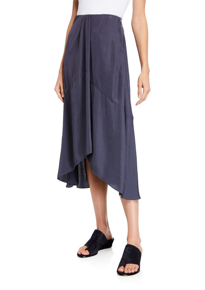 13a5e764df Vince Vince Twist Drape Midi Skirt with Pockets | Skirts