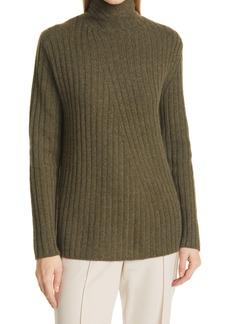 Vince Twist Neck Wool & Cashmere Turtleneck Sweater
