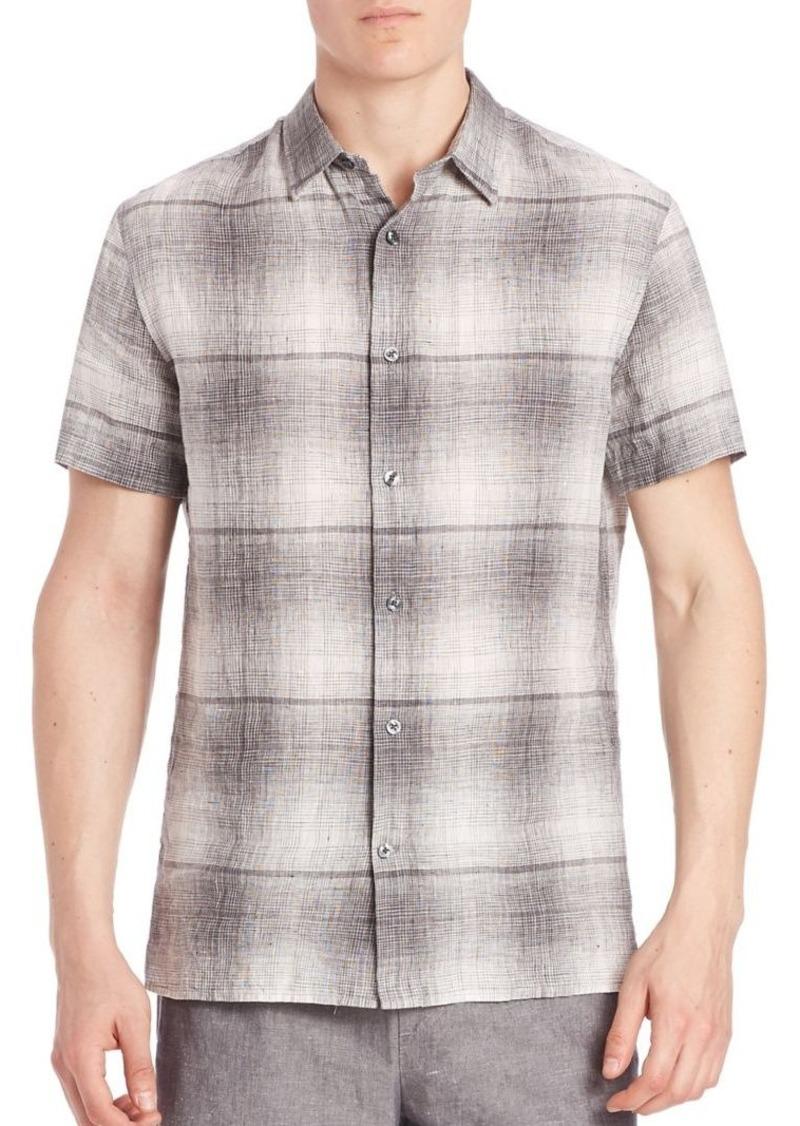 Vince Two Tonal Printed Shirt