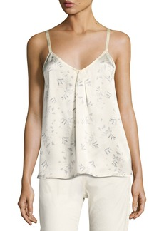 Vince Two-Tone Floral-Print Silk Camisole Top