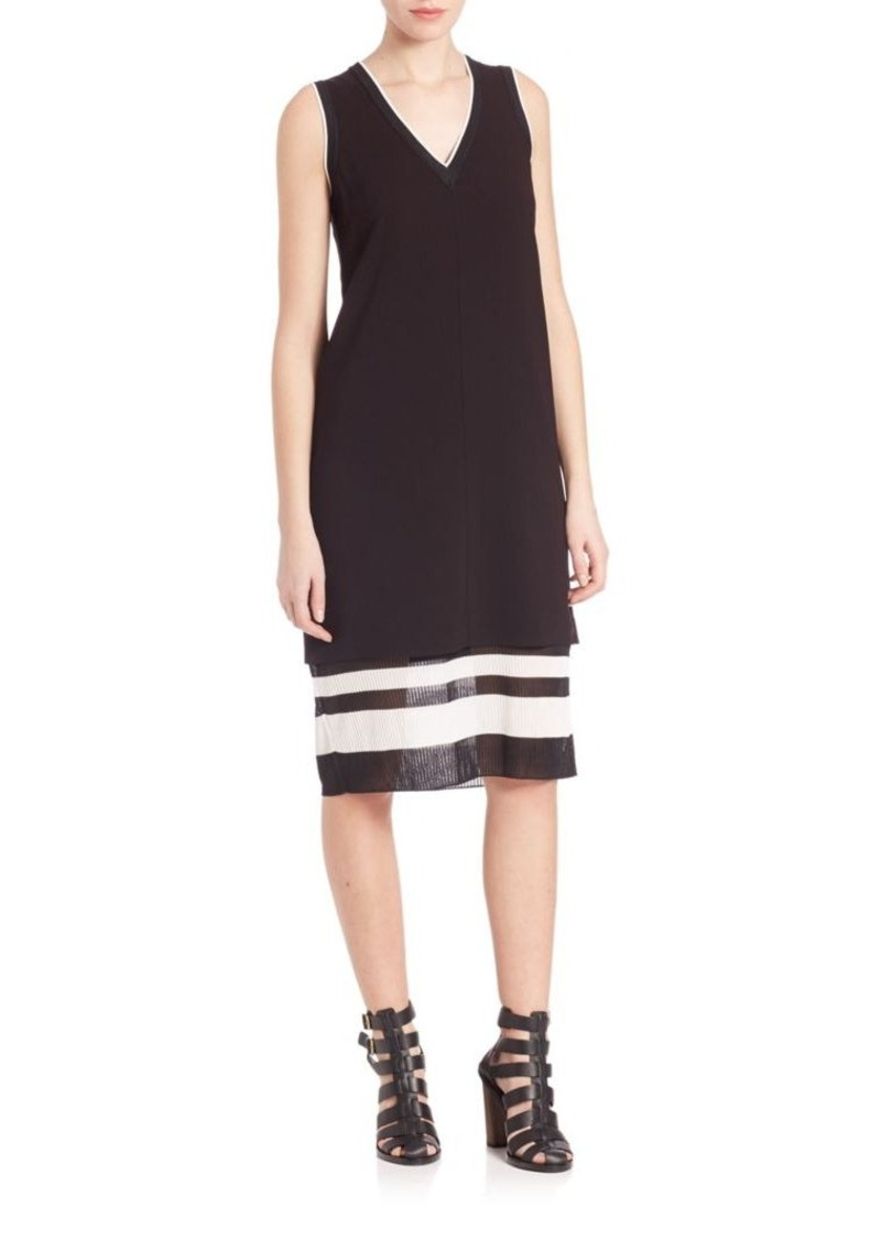Vince Two-toned Trapeze Dress