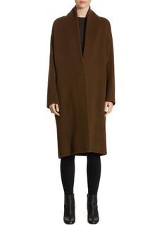 Vince Wool-Blend V-Neck Coat