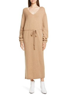Vince V-Neck Long Sleeve Wool & Cashmere Sweater Dress