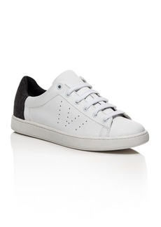 Vince Varin Flannel Detail Low Top Lace Up Sneakers