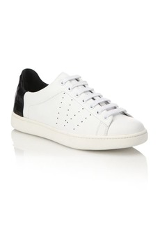 Vince Varin Leather & Croc-Embossed Sneakers