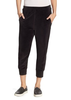 Vince Velour Cotton Cuffed Joggers