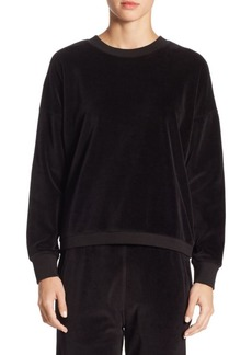 Vince Velour Cotton Sweater