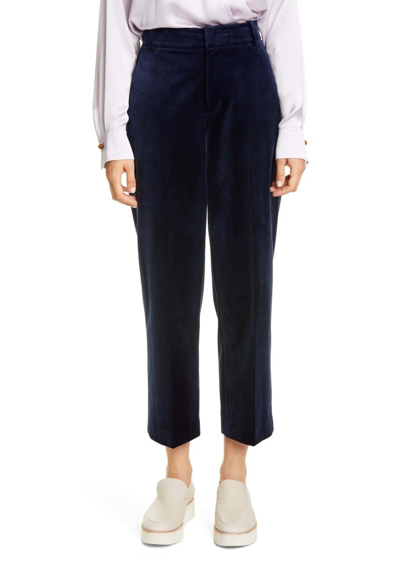 Vince Velvet Crop Trousers