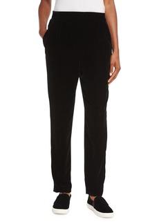 Velvet Single-Pleat Trousers